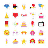 Christmas, Party and Celebration Colored Vector Icons 10 Stock Photos