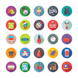 Christmas, Party and Celebrations Vector Icons 8 vector illustration