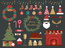 Christmas Party Collection,happy Holiday Stock Image