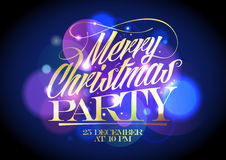 Christmas party design. Royalty Free Stock Photo