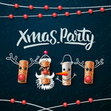 Christmas party design template Stock Photography