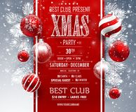 Christmas Party design. Template. Vector illustration Stock Photo