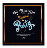 Christmas Party design template. Vector illustration Royalty Free Stock Images