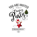 Christmas Party design template. Vector illustration Royalty Free Stock Image