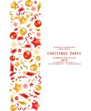 Christmas party or dinner invitation. Poster, flyer, greeting card, menu design template. On white background Vector illustration stock illustration