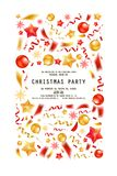 Christmas party or dinner invitation. Poster, flyer, greeting card, menu design template. On white background Vector illustration vector illustration