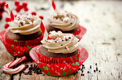 Christmas party dinner menu dessert idea - delicious chocolate p Stock Image