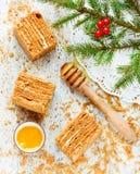 Christmas party dinner menu dessert idea - delicious homemade ho Royalty Free Stock Image