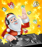Christmas Party DJ Santa Stock Images