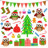 Christmas party elements Stock Image