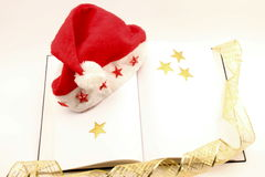 Christmas party end book stock photo