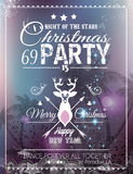 Christmas Party Flyer for Club and Disco events. Royalty Free Stock Photography