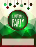 Christmas Party Flyer Design Royalty Free Stock Images