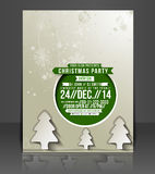 Christmas Party Flyer Royalty Free Stock Image