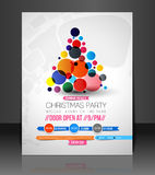 Christmas Party Flyer Royalty Free Stock Photography
