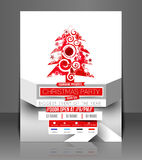 Christmas Party Flyer Royalty Free Stock Images