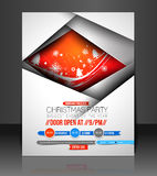 Christmas Party Flyer Royalty Free Stock Photo