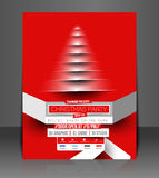 Christmas Party Flyer Stock Image