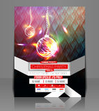 Christmas Party Flyer Royalty Free Stock Photos