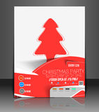 Christmas Party Flyer Stock Photography