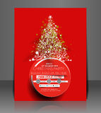 Christmas Party Flyer Stock Images