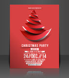 Christmas Party Flyer. & Poster Template Royalty Free Stock Images