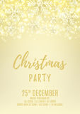 Christmas party flyer with snowflakes Royalty Free Stock Photos