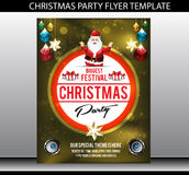 Christmas party flyer template Stock Photo