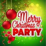Christmas party flyer. Vector template Royalty Free Stock Photos
