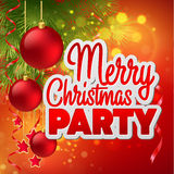 Christmas party flyer. Vector template Royalty Free Stock Image
