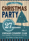 Christmas Party Flyer. Vintage style Royalty Free Stock Photos