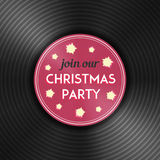 Christmas party flyer with vinyl record. Vector. Christmas party flyer with vinyl record disc on it. New year celebration invitation. Vector illustration Stock Images