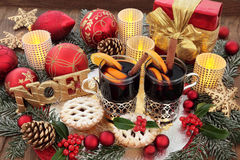 Christmas Party Food and Drink Stock Images