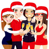 Christmas Party Friends Toast Stock Photography