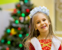 Christmas party girl Royalty Free Stock Photo