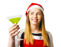 Christmas party girl in a holiday celebration Royalty Free Stock Photo