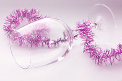 Christmas Party Glass Royalty Free Stock Photography