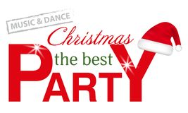 Christmas Party header with  Santa hat isolated on white background. Vector. Christmas Party header with Santa hat isolated on white background. Vector Stock Photo