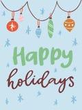 Christmas party invintation vector card design template for noel Xmas holiday celebration clipart New Year Santa Claus. Christmas party invintation vector card Stock Photos