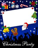 Christmas party invitation. A view of an illustrated Christmas party invitation or announcement Stock Images