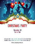 Christmas party invitation background Royalty Free Stock Photography