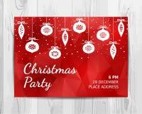 Christmas party invitation card. Christmas party flyer. Stock Photos