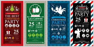 Christmas Party Invitation Card. This is Christmas invitation card design. Vector file Stock Image