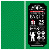 Christmas Party Invitation Card Stock Photography