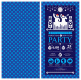 Christmas party Invitation Card Royalty Free Stock Photo
