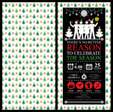 Christmas Party Invitation Card Royalty Free Stock Image