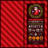 Christmas Party Invitation Card Royalty Free Stock Photography