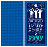 Christmas Party Invitation Card. This is Christmas Invitation card design. Vector file Royalty Free Stock Photography