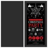 Christmas Party Invitation Card Royalty Free Stock Images