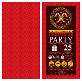 Christmas Party Invitation Card Stock Photo